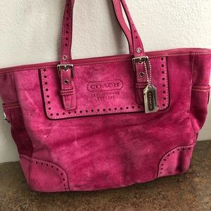 COACH Hot Pink Suede Handbag